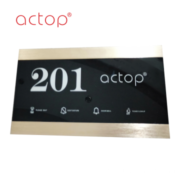 electronic door number doorplate for hotel